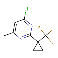 4-chloro-6-methyl-2-[1-(trifluoromethyl)cyclopropyl]pyrimidine