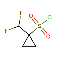 1-(difluoromethyl)cyclopropane-1-sulfonyl chloride