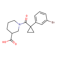 1-[1-(3-bromophenyl)cyclopropanecarbonyl]piperidine-3-carboxylic acid