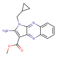 methyl 2-amino-1-(cyclopropylmethyl)-1H-pyrrolo[2,3-b]quinoxaline-3-carboxylate