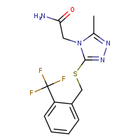 2-[3-methyl-5-({[2-(trifluoromethyl)phenyl]methyl}sulfanyl)-4H-1,2,4-triazol-4-yl]acetamide