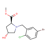 methyl (2S,4R)-1-[(5-bromo-2-chlorophenyl)methyl]-4-hydroxypyrrolidine-2-carboxylate