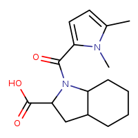 1-(1,5-dimethyl-1H-pyrrole-2-carbonyl)-octahydro-1H-indole-2-carboxylic acid