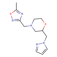 4-[(5-methyl-1,2,4-oxadiazol-3-yl)methyl]-2-(1H-pyrazol-1-ylmethyl)morpholine
