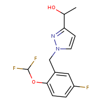 1-(1-{[2-(difluoromethoxy)-5-fluorophenyl]methyl}-1H-pyrazol-3-yl)ethan-1-ol